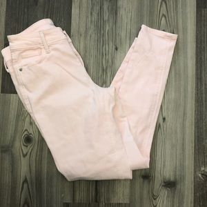 Old Navy Rockstar Baby Pink Mid Rise Skinny Jeans